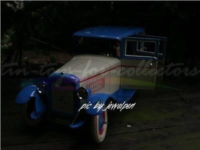 Riesige 34 Cm Lange 4 Türige Lithopgarhierte Blech Limousine Uhrwerkaufzug 5