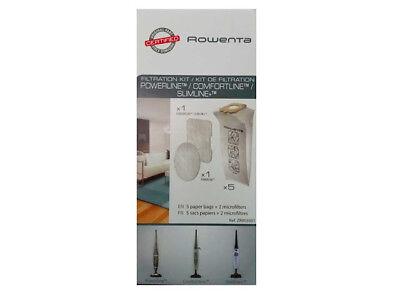 Rowenta Kit 5 Sacchetti + 2 Filtri Scopa Rh7855 Rh7866 Rh7821Wb Rh7843Wa 3
