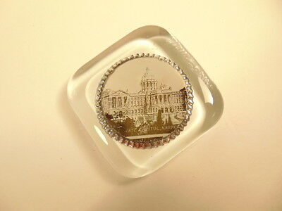 vintage glass paperweight showing PA's State Capitol, Harrisburg 2