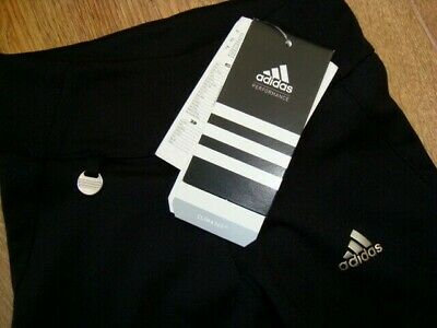 New Adidas Girls Gym Workout 3/4 Length Black Leggins Age 4 Yrs 108 Bnwt 2