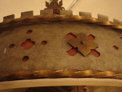 Art Deco Vintage Pair Metalwork Chandeliers 6