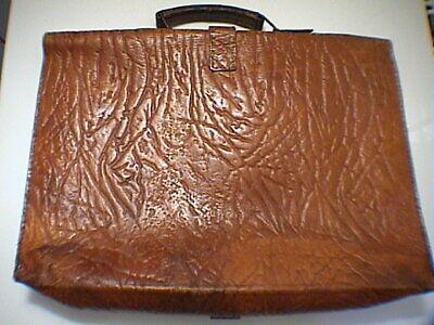 1717/  Leder Aktentasche Tasche Antik Vintage Accessoires 5