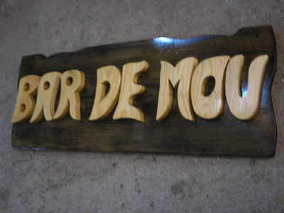 LETRERO de madera personalizado, ROTULACIÓN artesanal 8