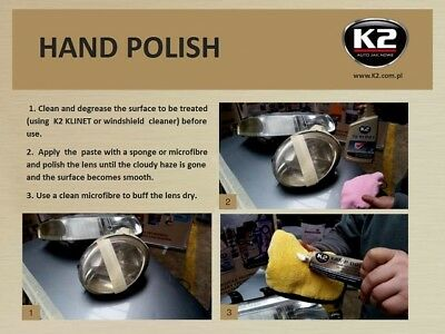 K2 Pro LAMP DOCTOR CLEANER RESTORES & POLISH YELLOWED SCRATCHED HEADLIGHT LENSES 4