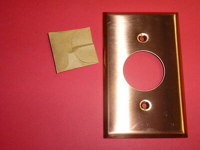 Nos! Bell 1-Gang Single Receptacle, Smooth Copper Finish Wall Plate