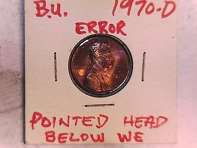 1970D And 1970S Lincoln One Cent Error Coins  (Great) 5