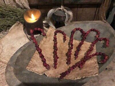 Primitive Wreath Ornaments Blackened Wax Early Homestead Bowl Filler Peg Hanger 7