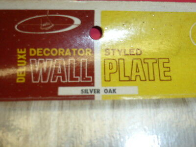 Nos! Bell 2-Gang Toggle Silver Oak Finish Wall Plate, 2