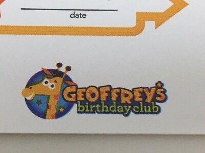 Toys R Us Babies R Us Geoffrey/'s Birthday Club Toddler Growth Chart W// Stickers