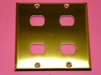 Nos! Bell Interchange 2-Gang Brass Finish Wall Plate, Horizontal, 18-2-Bfx 2