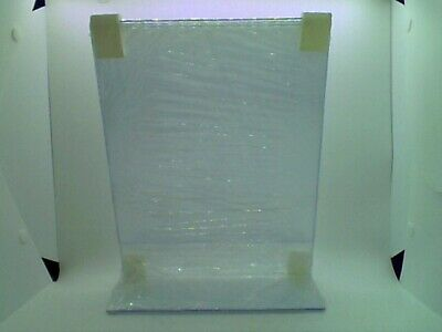 8.5 X 11 Inch Clear Acrylic Plexi Sign Holders - Single Sheet Slanted Easel 3pk 4