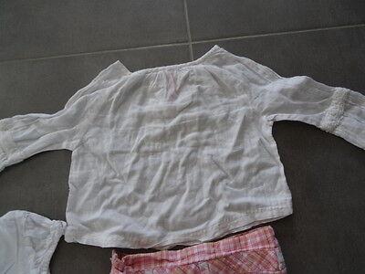 Ensemble jupe rose quadrillé KISS MELODY + Tunique & t-shirt blanc Taille 3 ans 2