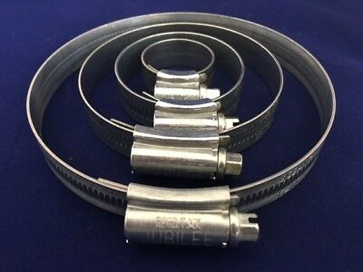 Jubilee Clips Mild Steel Zinc Genuine Jubilee Hose Clips Worm Drive Hose Clamps 12