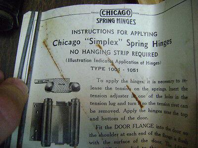"""Chicago """"Simplex"""" Spring Hinges Plus bonus set 5"""