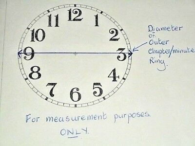 """For American Clocks - Round Sessions Paper (Card) Clock Dial- 3 1/4"""" M/T- CREAM 5"""