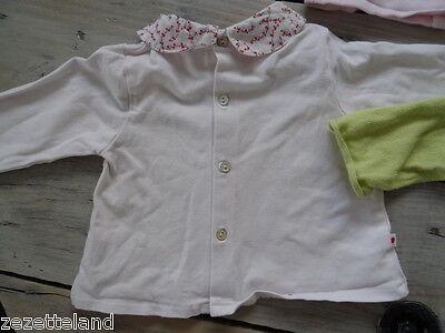 Lot vêtements OBAÏBI 1 gilet rose clair et 1 anis + polo Taille 6 mois / 67 cm 5