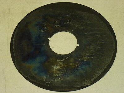 """VINTAGE 8"""" DIAMETER DOOR ESCUTCHEON, Finish: US19, MATTE BLACK 3"""