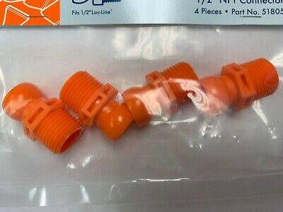"""1/2"""" Male NPT Connectors for 1/2""""Loc-Line® USA System Pack of 4 pieces #51805 2"""