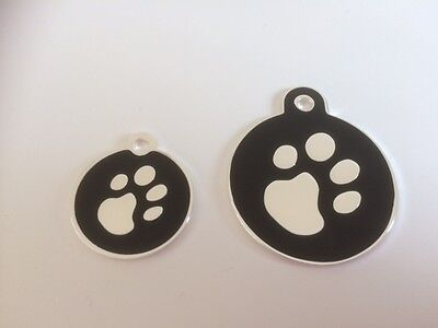 Elegance Paw Print Engraved Cat/Dog/Pet ID NAME tags BONE/DISC Variations.... 7