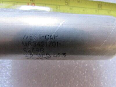 10UF 50VDC JAN CAPACITOR FIXED METALLIZED DIELECTRIC M83421//01-7358M WEST-CAP