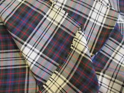 Vintage French Fabric. Upholstery, Curtains, Projects. Tartan 2 metres UNUSED 4