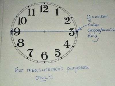 "Steeple Paper Clock Dial- 4 1/4"" M/T-Roman-Floral-White-Face/Clock Parts/Spares"