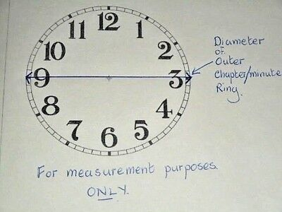 "Ogee Paper Clock Dial- 8"" M/T - Roman -  White Matt - Face/ Clock Parts"