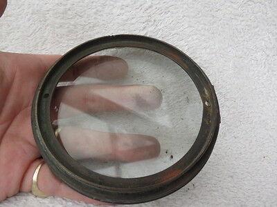 Antique Glass Clock Back