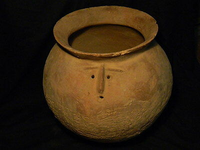 Ancient Huge Size Teracotta Anthropomorphic Funerary Pot Indus Valley 1500 BC