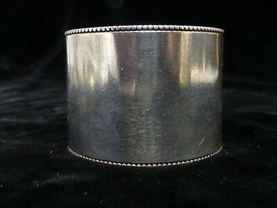 Antique American Floral Design Sterling Napkin Ring 3