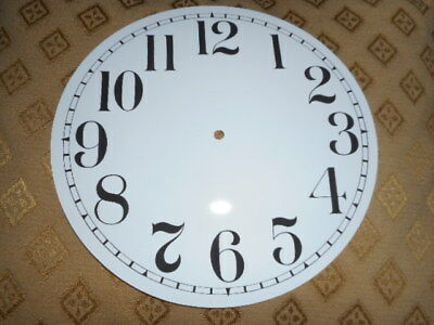 """Round Paper (Card) Clock Dial - 7"""" M/T- Arabic - GLOSS WHITE - Parts/Spares 4"""