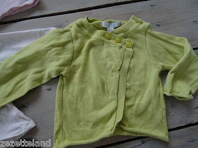 Lot vêtements OBAÏBI 1 gilet rose clair et 1 anis + polo Taille 6 mois / 67 cm 4