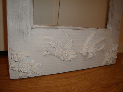 Shabby & Chic Swallow Bird Furniture Appliques 1 Pair L/R Architectural Onlay 5
