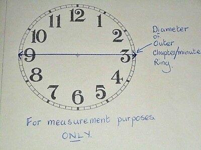Round Calendar Paper Clock Dial  - Cream - Face / Clock Parts **