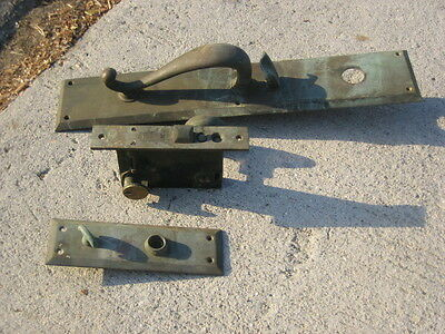 ant/vtg BL Brass Mortise Lock Exterior Deadbolt (complete set) 2