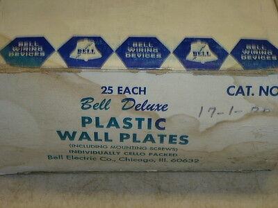 Nos! 2 Bell Interchange Single Gang Wall Plate, 1-Hole Horizontal, Brown 17-1-Br 2