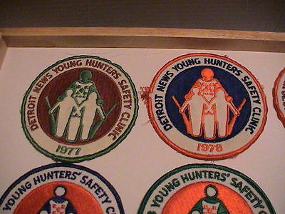 Lot /10 Detroit Michigan News 1977-1987 Youth Hunter Safety Gun Hunting Patches 3