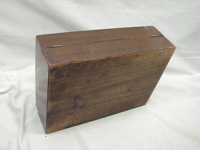 Antique Wooden Lap/Field Desk Writing Case Wood Box Tool Tole Painted 7