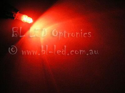 10x T5 74 24 Wedge Universal Red Flat Top LED Light Bulbs Dash Instrument HVAC
