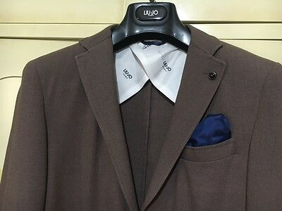 info for 6cde2 c7736 GIACCA UOMO LIU Jo marrone bianca 48 M slim jacket man brown giacche  jacket's