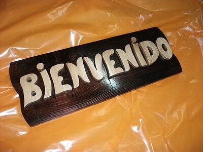 LETRERO de madera personalizado, ROTULACIÓN artesanal 2