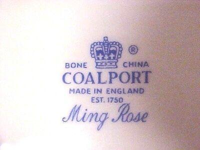 "Vintage Coalport 5 1/2"" Saucer Ming Rose Fine Bone China England M635"