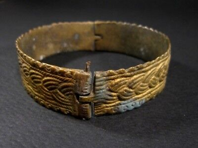 Magnificent 1800 Antique Bronze Bracelet In Two Movable Parts!!! 4