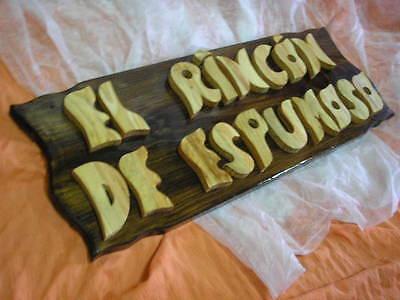 LETRERO de madera personalizado, ROTULACIÓN artesanal 12