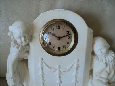 Antique french? Figural mantle clockis Working but is Running a bit slow 2
