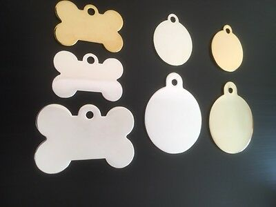 High Quality Engraved 925-Silver / 24-CARAT Gold Plated Pet / Cat / Dog / ID Tag 4 • EUR 5,45