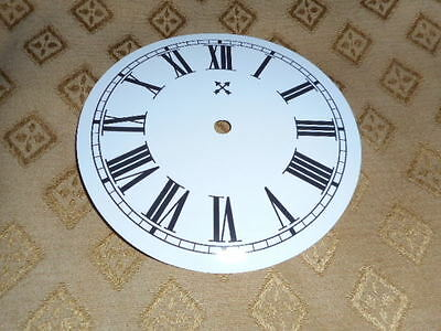 """Round HAC Paper (Card) Clock Dial - 5"""" M/T -  Roman-GLOSS WHITE - Parts/Spares 4"""