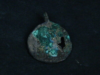 Ancient Bronze Pendant Bactrian 200 BC  #B293
