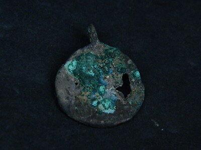 Ancient Bronze Pendant Bactrian 200 BC  #B293 7