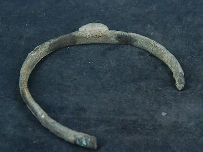 Ancient Bronze Bracelet With Seal Bactrian 300 BC  #SG4755 6